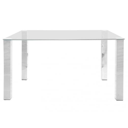 84f4228f9208b Stôl so sklenenou doskou Canton 140 cm, číre sklo | DESIGN OUTLET