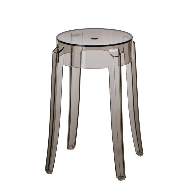 Stolička Andan, 39 cm, transparentní šedá