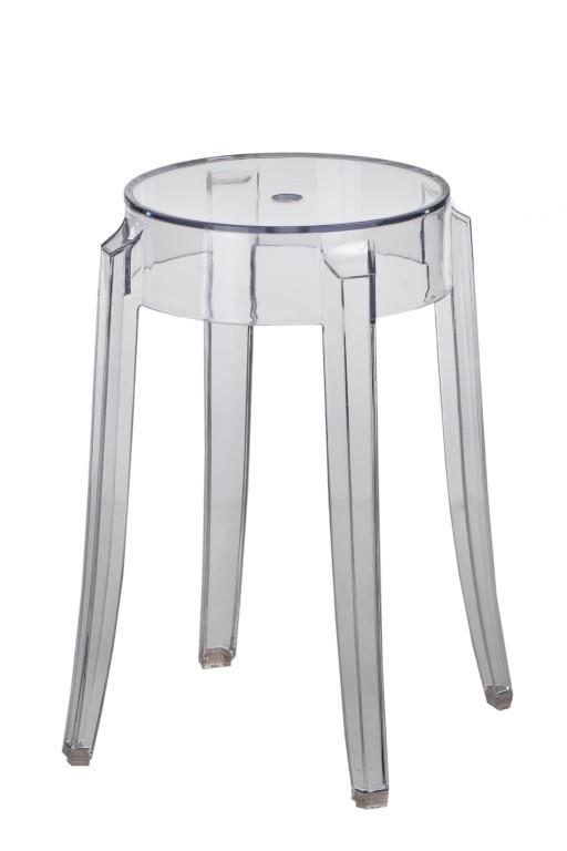 Stolička Andan, 39 cm, transparentní