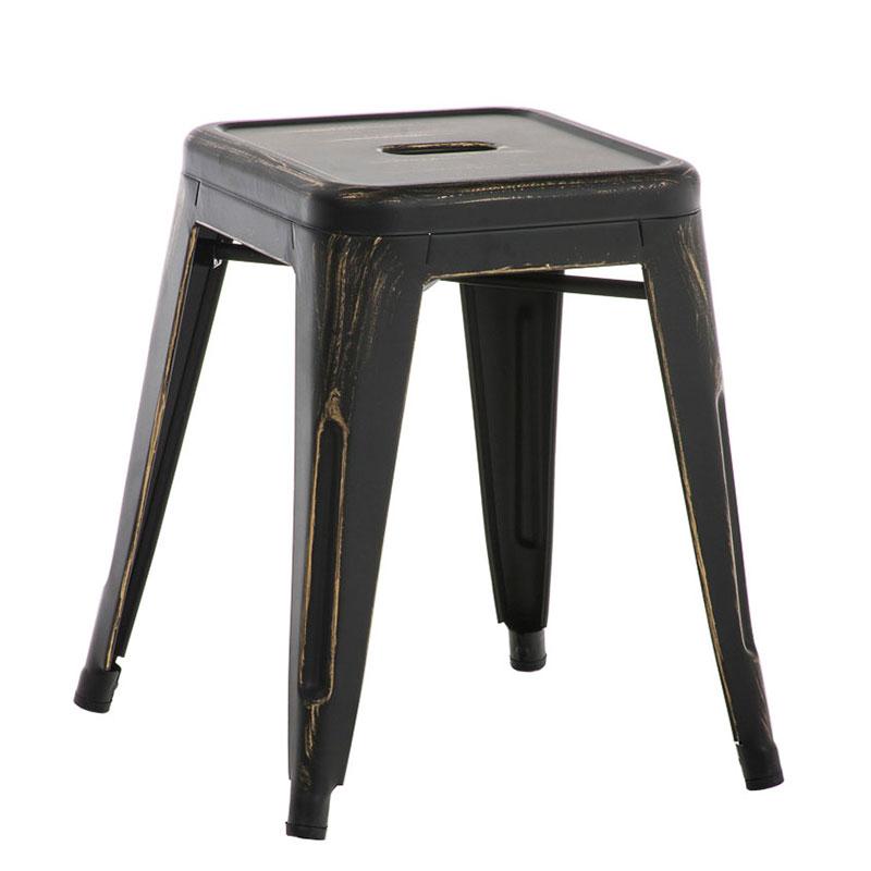 Stolička bez operadla Arman, antik čierna, čierna