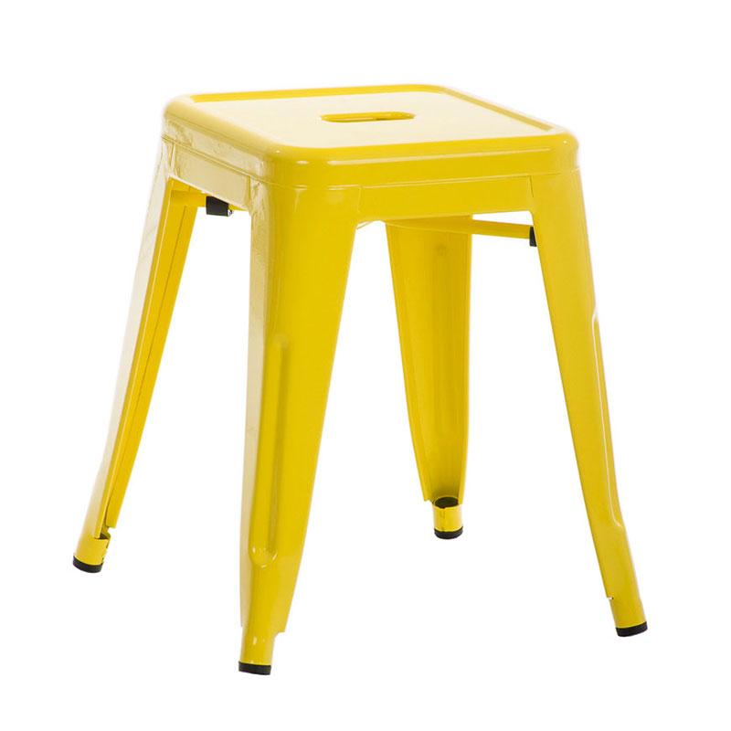 Stolička bez operadla Arman, žltá