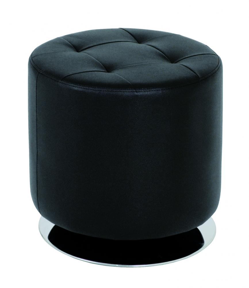 Stolička Josiah, 40 cm, chrom / černá