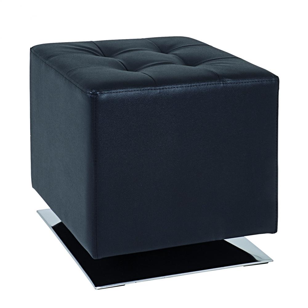 Stolička Josiah, 42 cm, chrom / černá