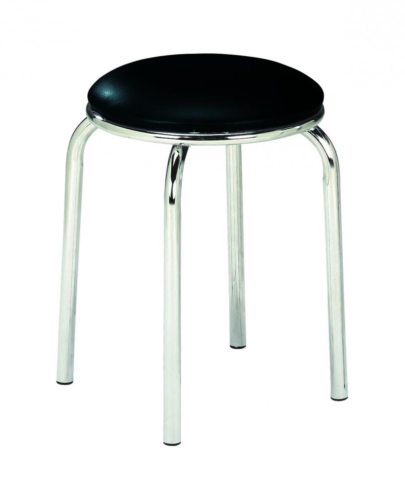 Stolička Lugan, 45 cm, černá