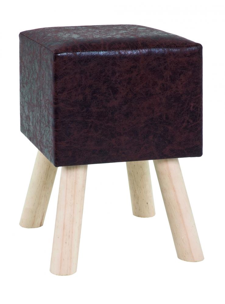 Stolička Nova, 45 cm, masiv / tmavě hnědá