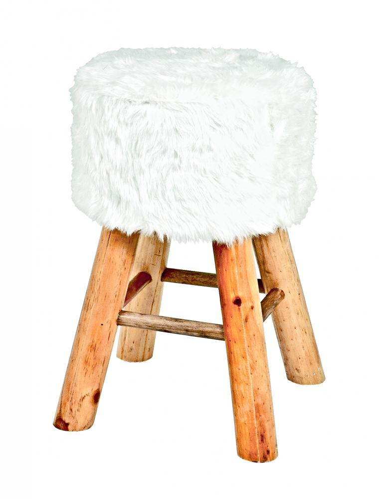 Stolička Nova I., 45 cm, masiv / bílá