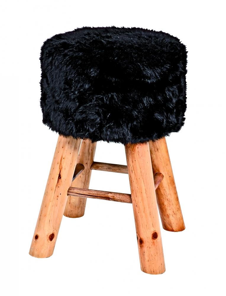 Stolička Nova I., 45 cm, masiv / černá