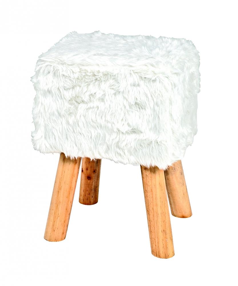 Stolička Nova II., 45 cm, masiv / bílá
