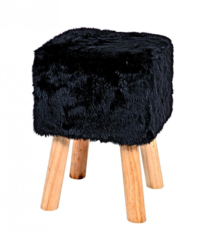 Stolička Nova II., 45 cm, masiv / černá