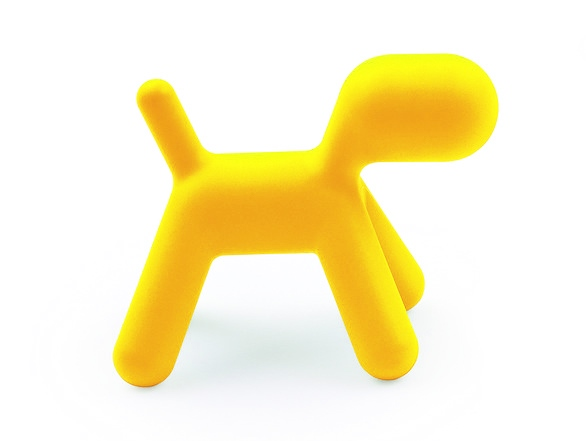 Stolička pro děti Pejsek, 70 cm, žlutá
