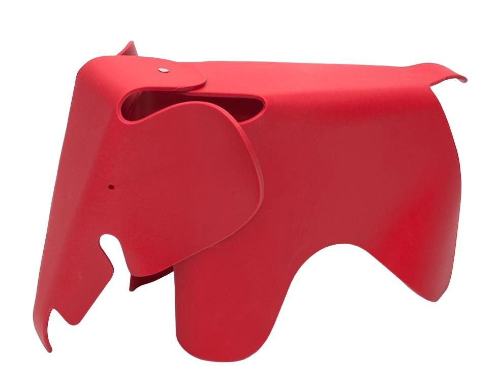 Stolička pro děti Slon, 64 cm, červená