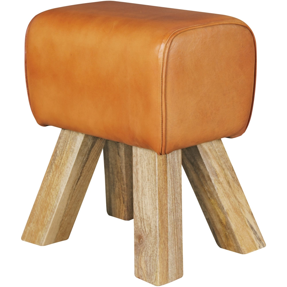 Stolička Riku, 47 cm, kozí kůže