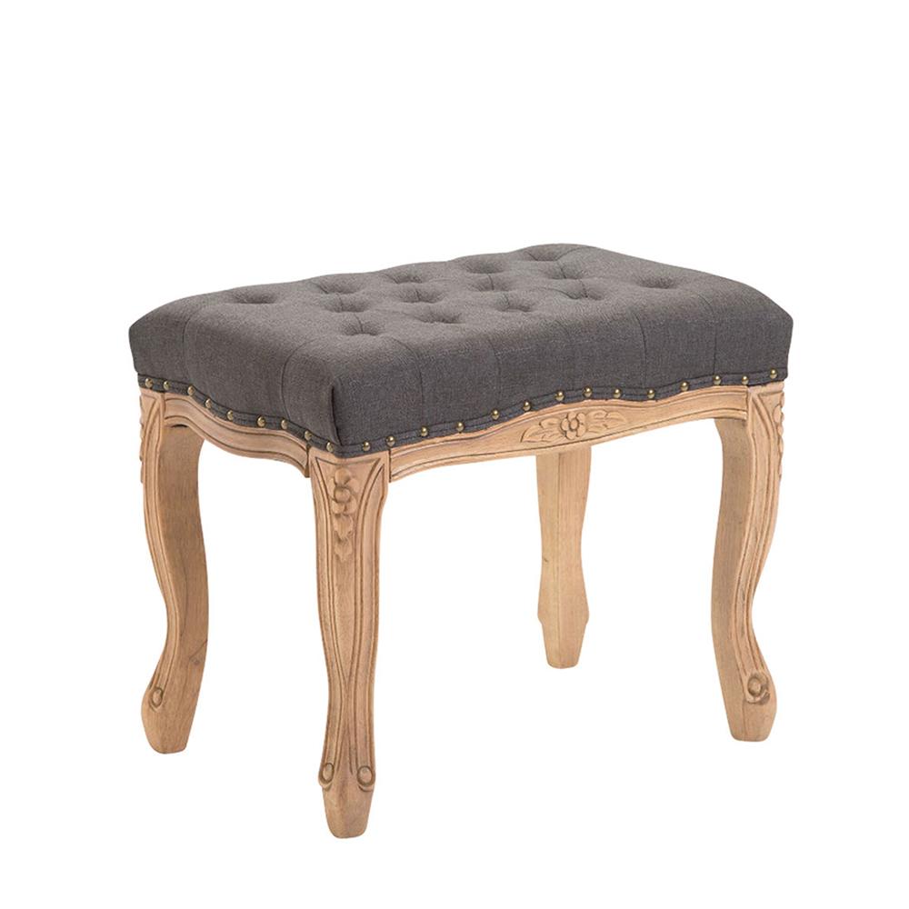 Stolička s dřevěnou podnoží Graven, 56 cm, světlá podnož tmavě šedá
