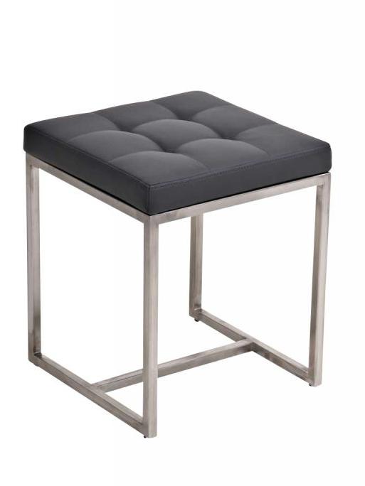 Stolička s nerezovou podnoží Barbara šedá