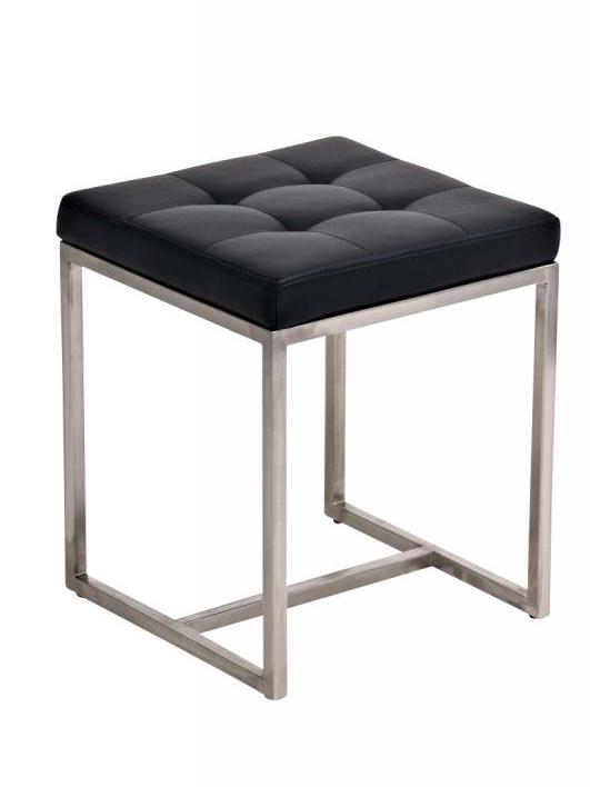Stolička s nerezovou podnoží Barbara černá