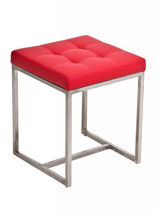 Stolička s nerezovou podnožou Barbara, hnedá