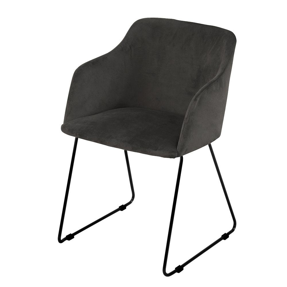 Stolička s podrúčkami Blanka (SET 2 ks), antracitová, antracit