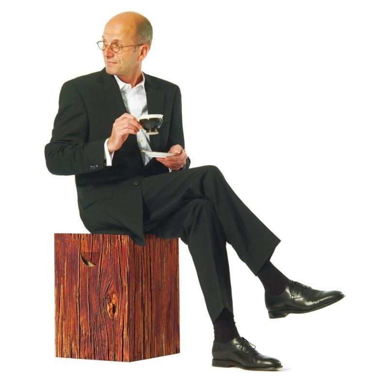 Stolička / stolek z vlnité lepenky Natur