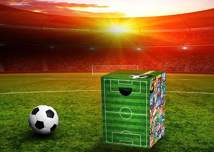 Stolička / stolek z vlnité lepenky Soccer