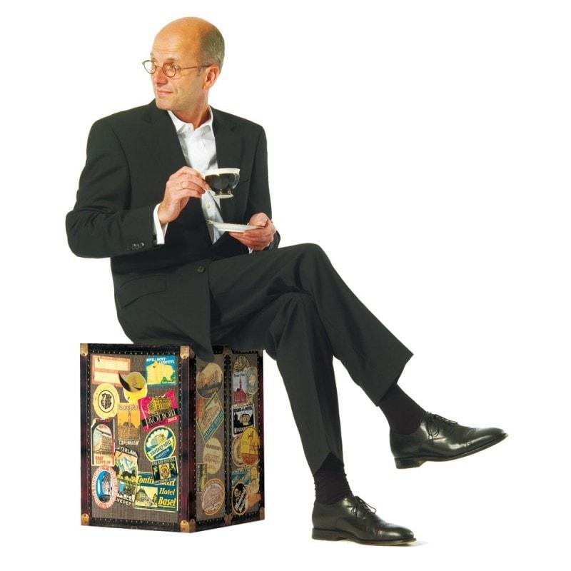 Stolička / stolek z vlnité lepenky Traveler