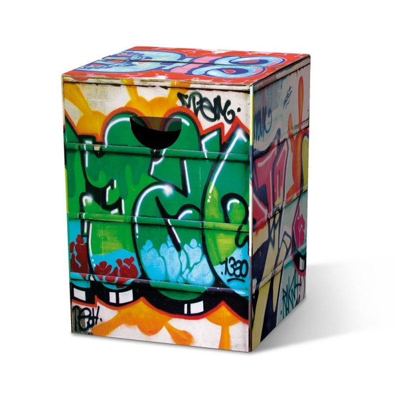 Stolička / stolík z vlnitej lepenky Grafitti, viac farieb