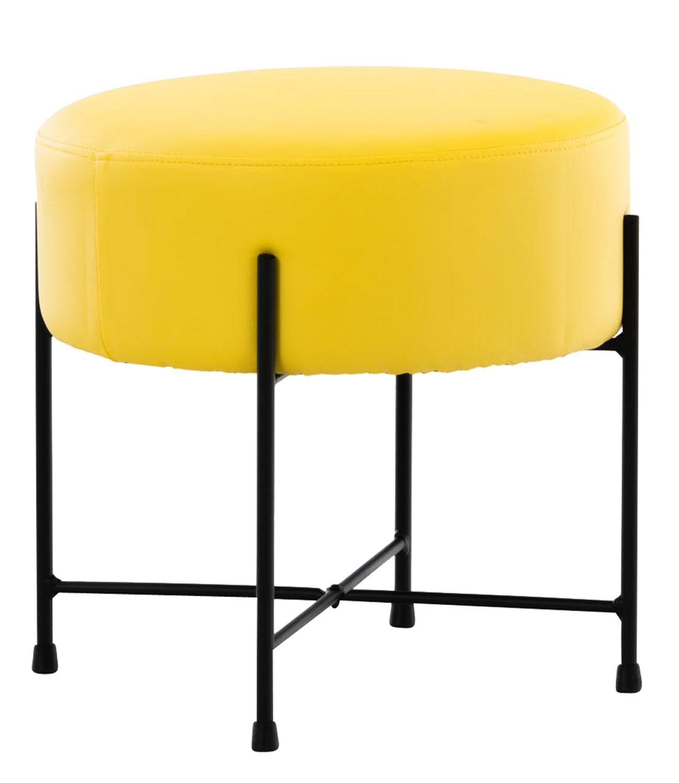 Stolička / taburetka France kůže