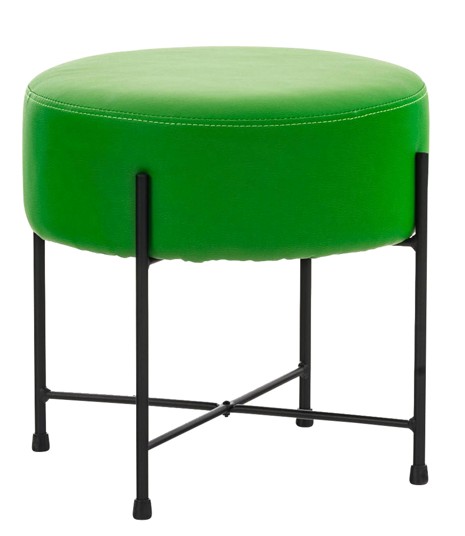 Stolička / taburetka France kůže zelená