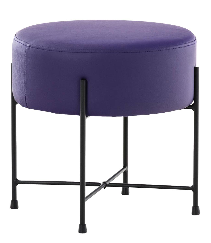 Stolička / taburetka France kůže fialová
