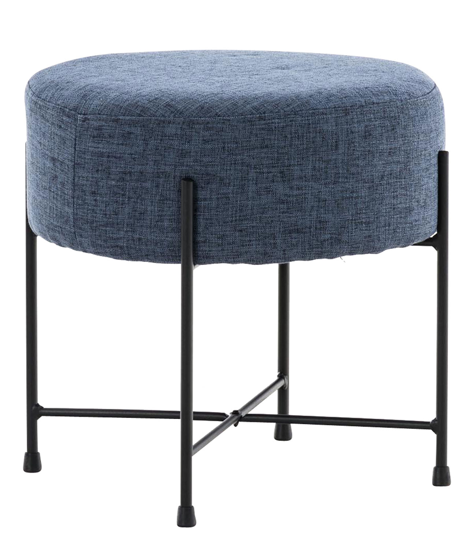 Stolička / taburetka France textil modrá