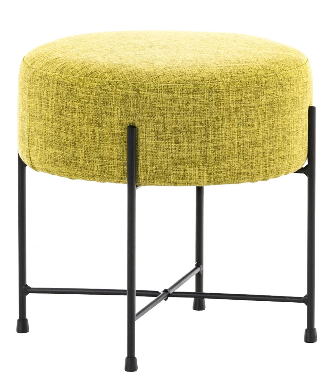 Stolička / taburetka France textil zelená