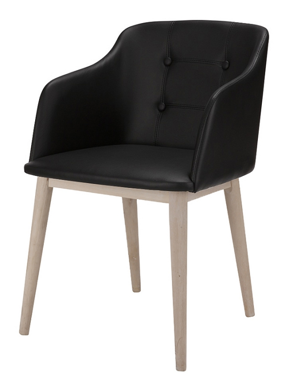 Stoličky s opierkami Octopus (SET 2 ks), čierna koža, čierna