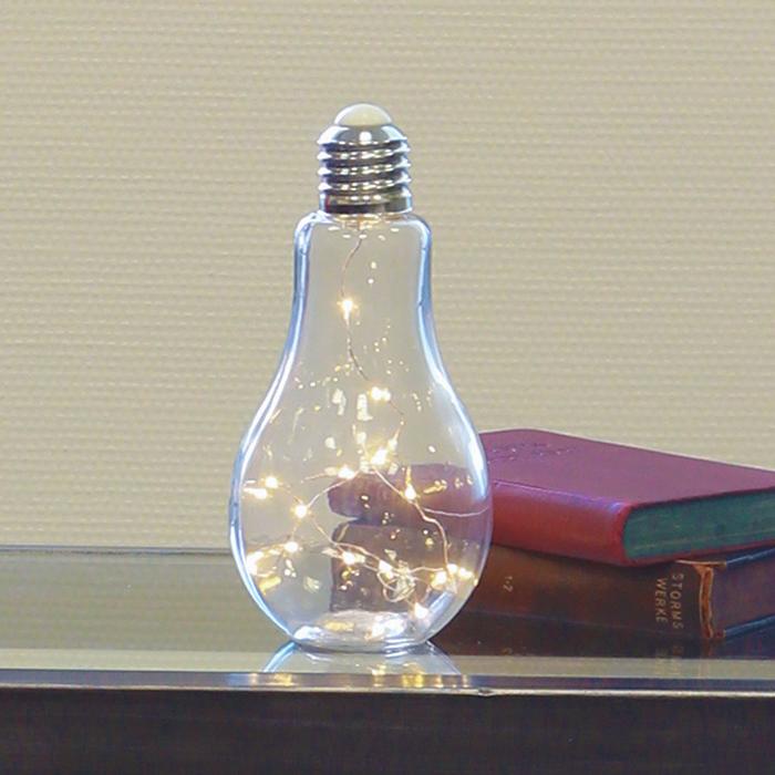 Stolní dekorativní lampa Žárovka, 22 cm, čirá