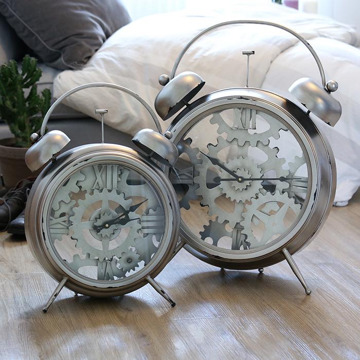 Stolní hodiny kovové Factory, 52 cm