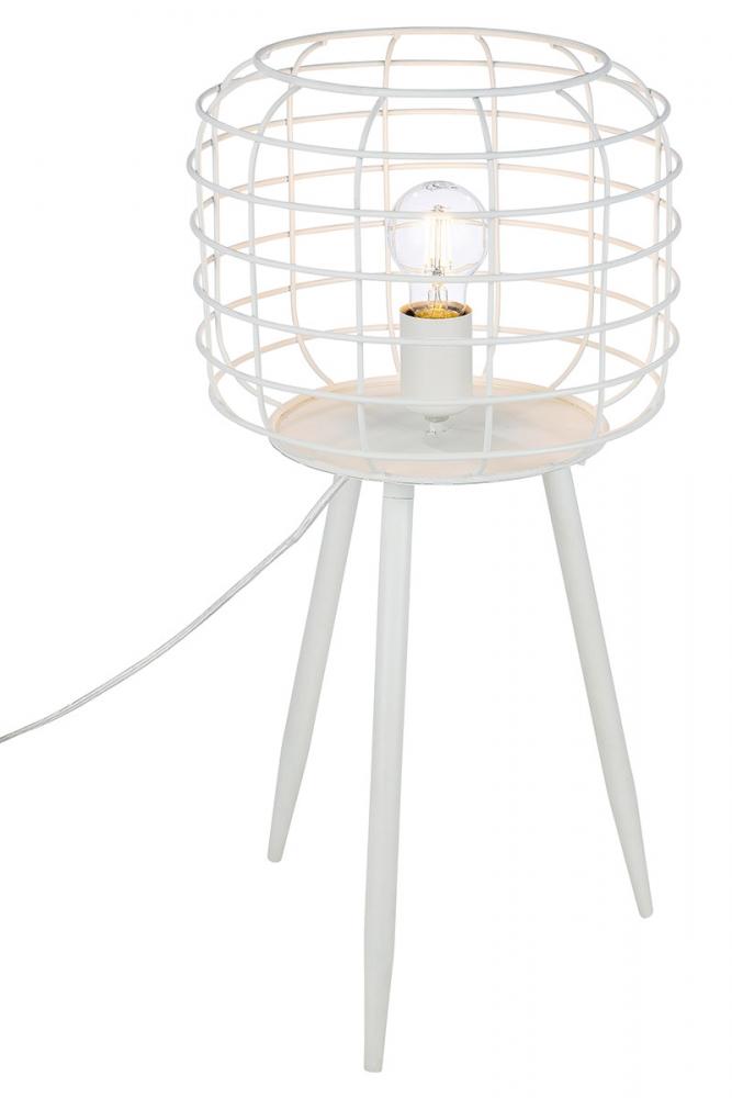 Stolní lampa Baslet, bílá