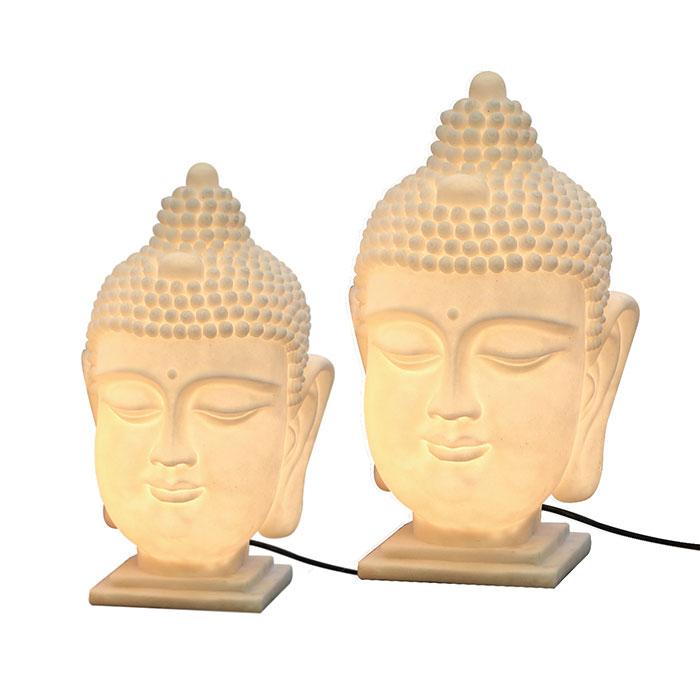 Stolní lampa Buddha hlava, 48 cm
