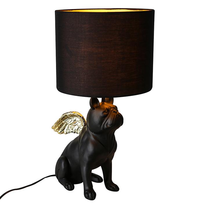 Stolní lampa Dogs, 55 cm, černá