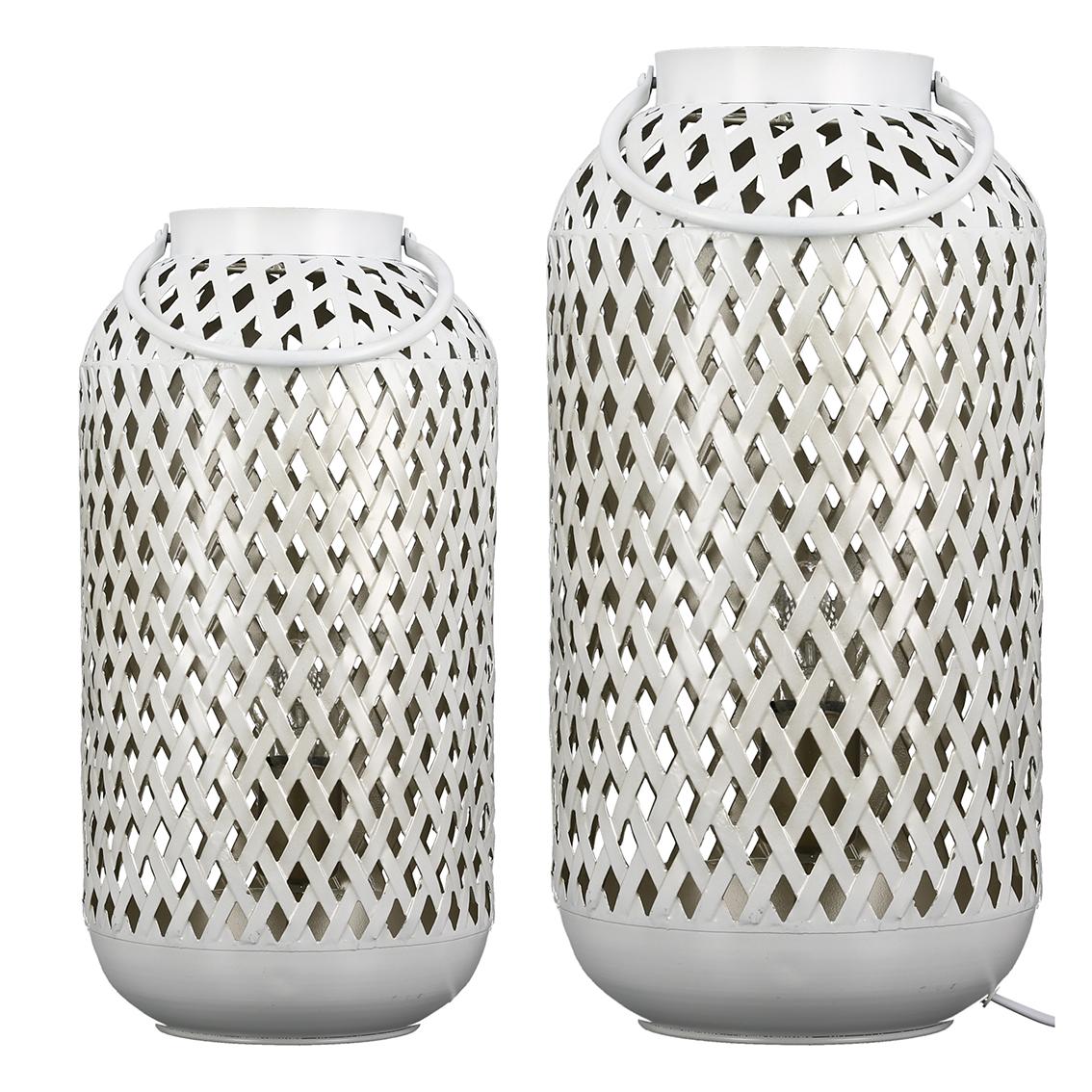 Stolní lampa Dong, 42 cm, bílá