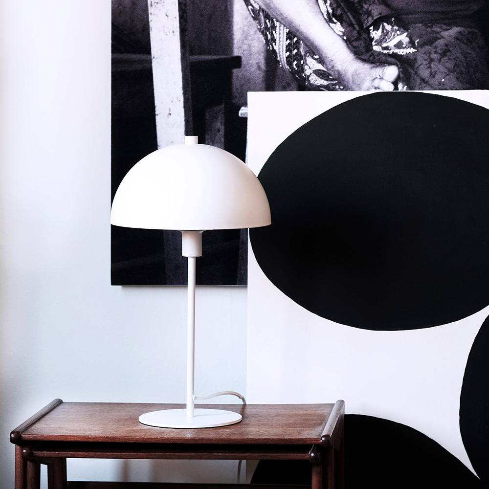 Stolní lampa Stockholm, 43 cm, bílá