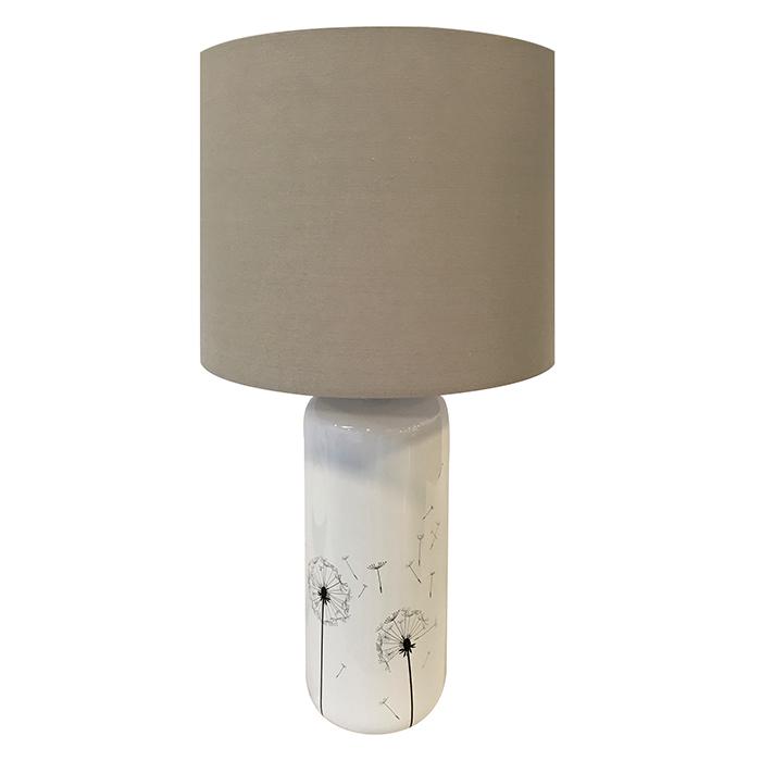 Stolní lampa keramická Pampelišky, 58 cm