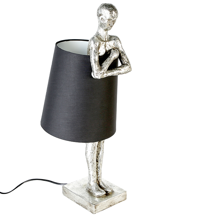 Stolní lampa Lampard, 58 cm, černá