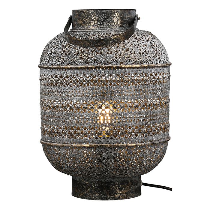 Stolní lampa Lenera, 39 cm, šedá
