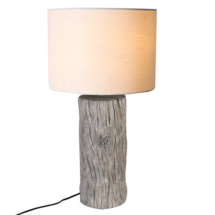 Stolní lampa Madelan, 50 cm, krémová