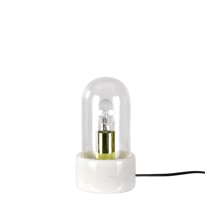 Stolní lampa Stenhaga, 25 cm, bílá