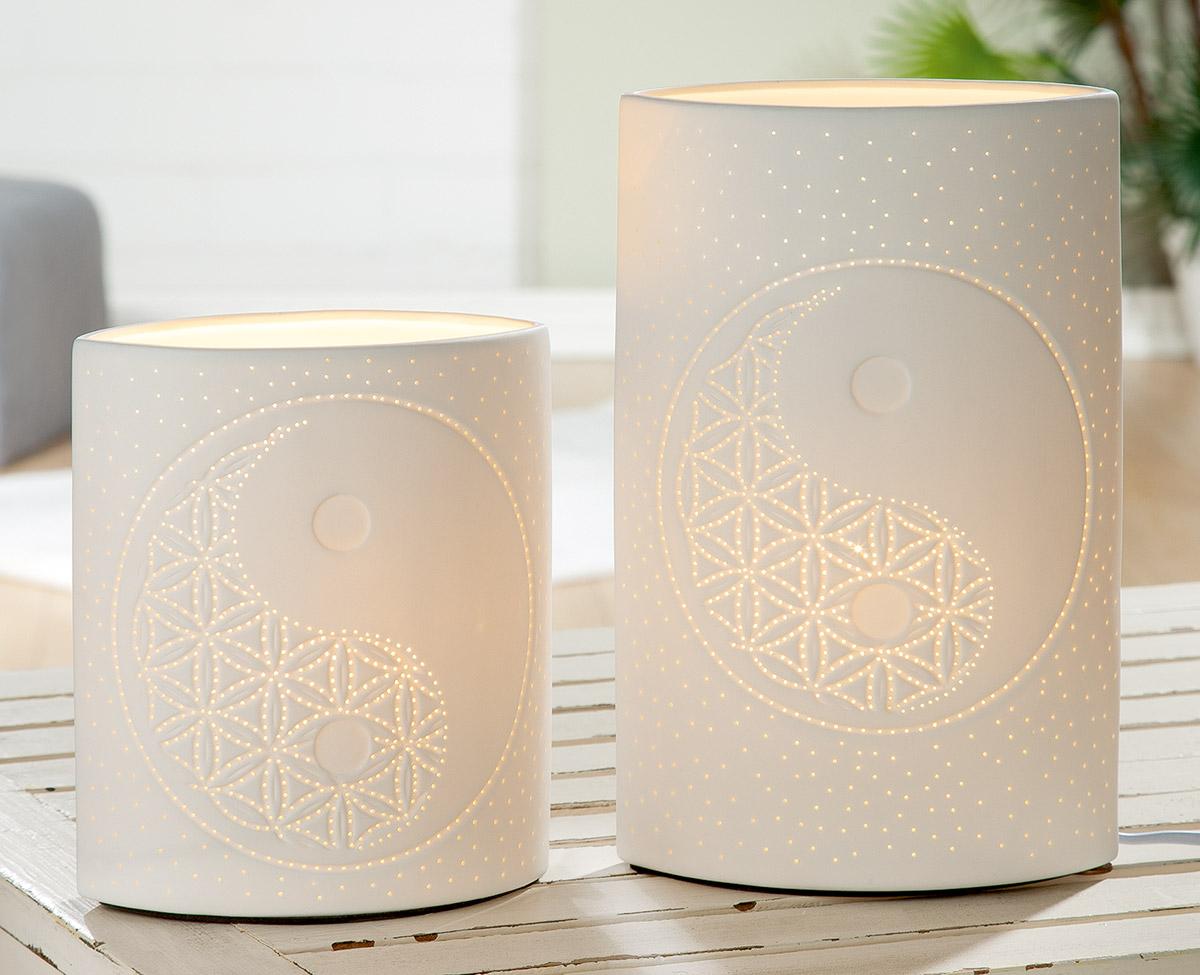 Stolní lampa Yinyang, bílá