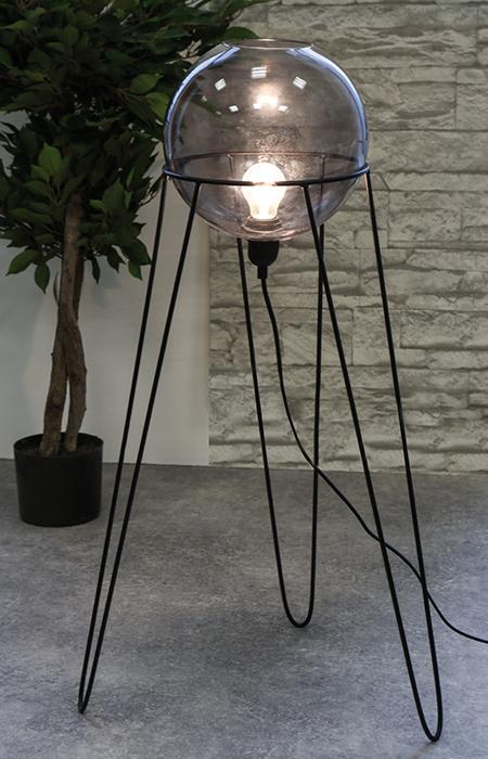Stolní / podlahová lampa Globe, 69 cm, černá
