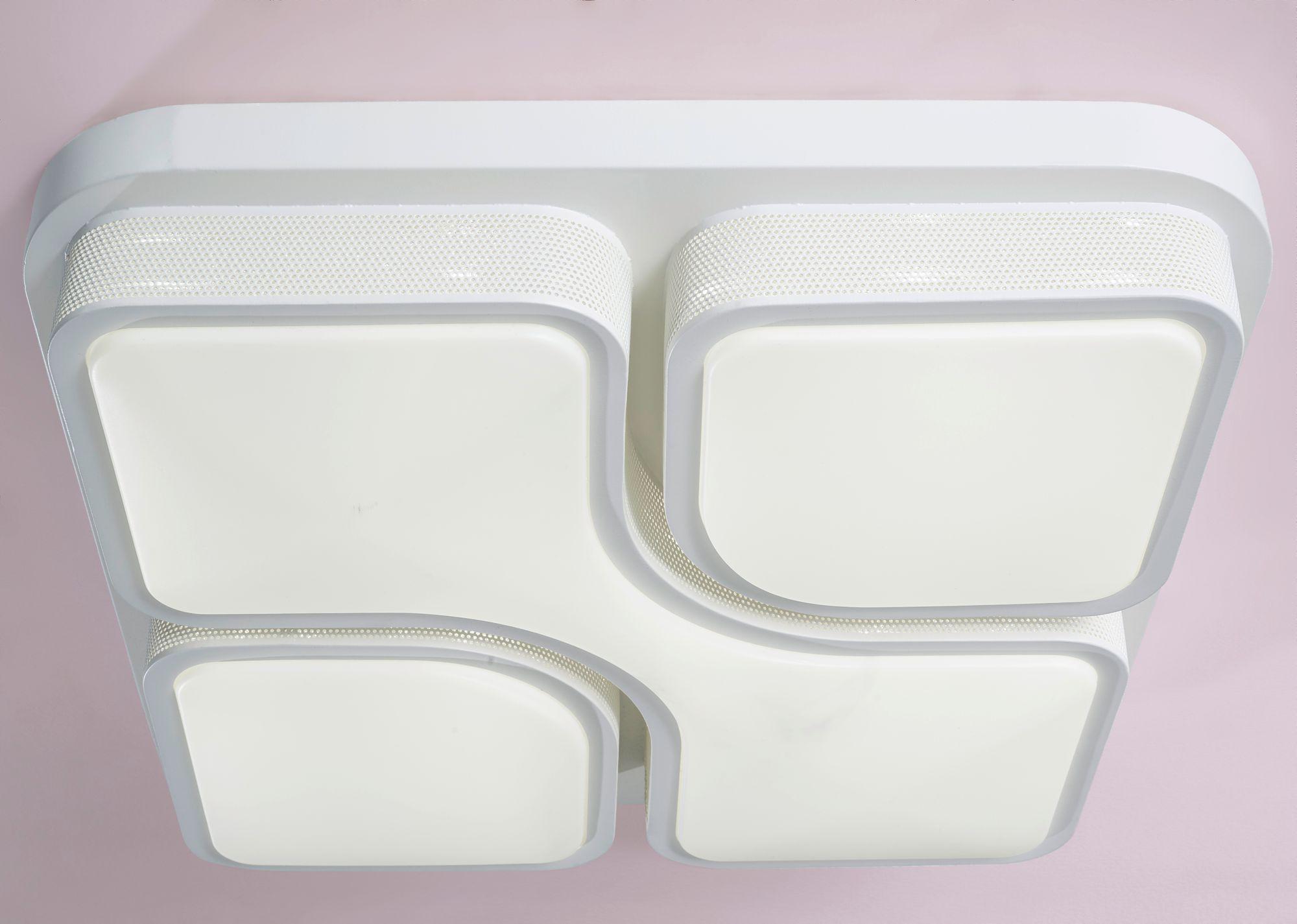 Stropní svítidlo Geometric, 53 cm, bílá