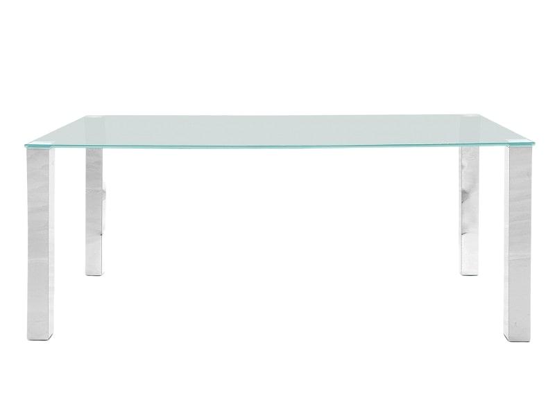 Stůl se skleněnou deskou Canton 180 cm, čiré sklo