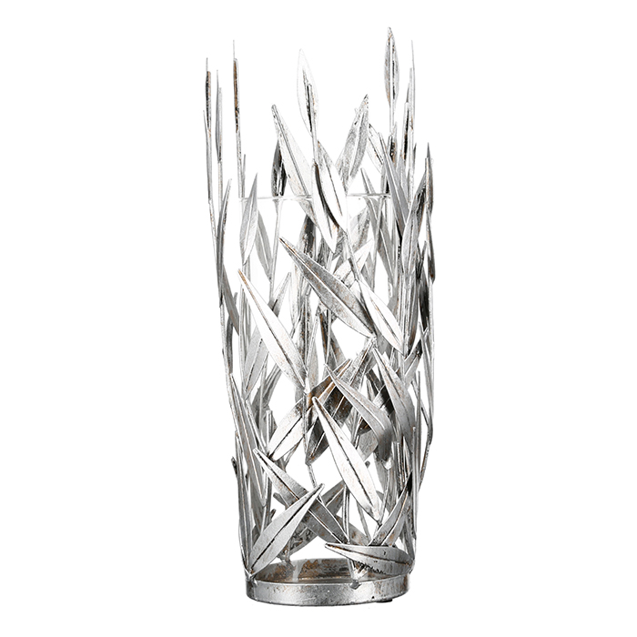 Svícen Adel, 50 cm, stříbrná
