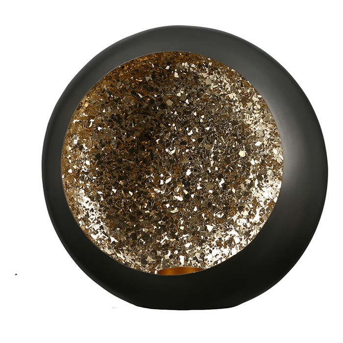 Svícen Anis, 38 cm, černá / zlatá
