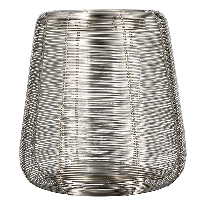 Svícen Belo, 35 cm, stříbrná